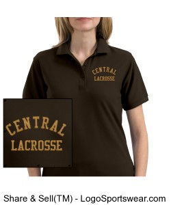 Central Lacrosse Embroidery Design Design Zoom