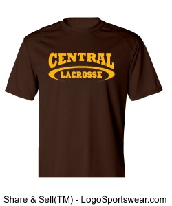Central Lacrosse Tee Design Zoom