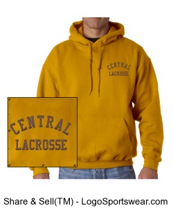 Central Lacrosse Hooded Sweatshirt Design Zoom