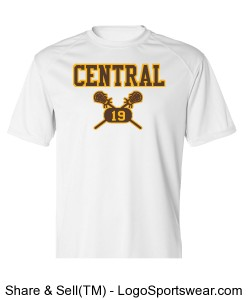 Central Lacrosse White Tee Design Zoom